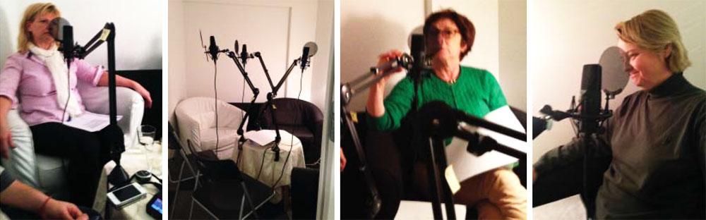 I en mycket liten studio på Sveavägen i centrala Stockholm spelade Ursula Berge, Titti Fränkel och Camilla Sköld idag in fyra samtal på temat  Laga välfärden.
